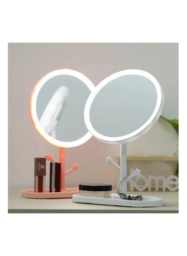 Bludfire Makyaj Aynası Led Işıklı Dokunmatik Makyaj Lambası Takı Askılığı Takı Tabaklı BEYAZ Renkli